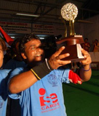 Team India Captain Mr. Vinod Sonkar (Uttar Pradesh) with Winning Trophy